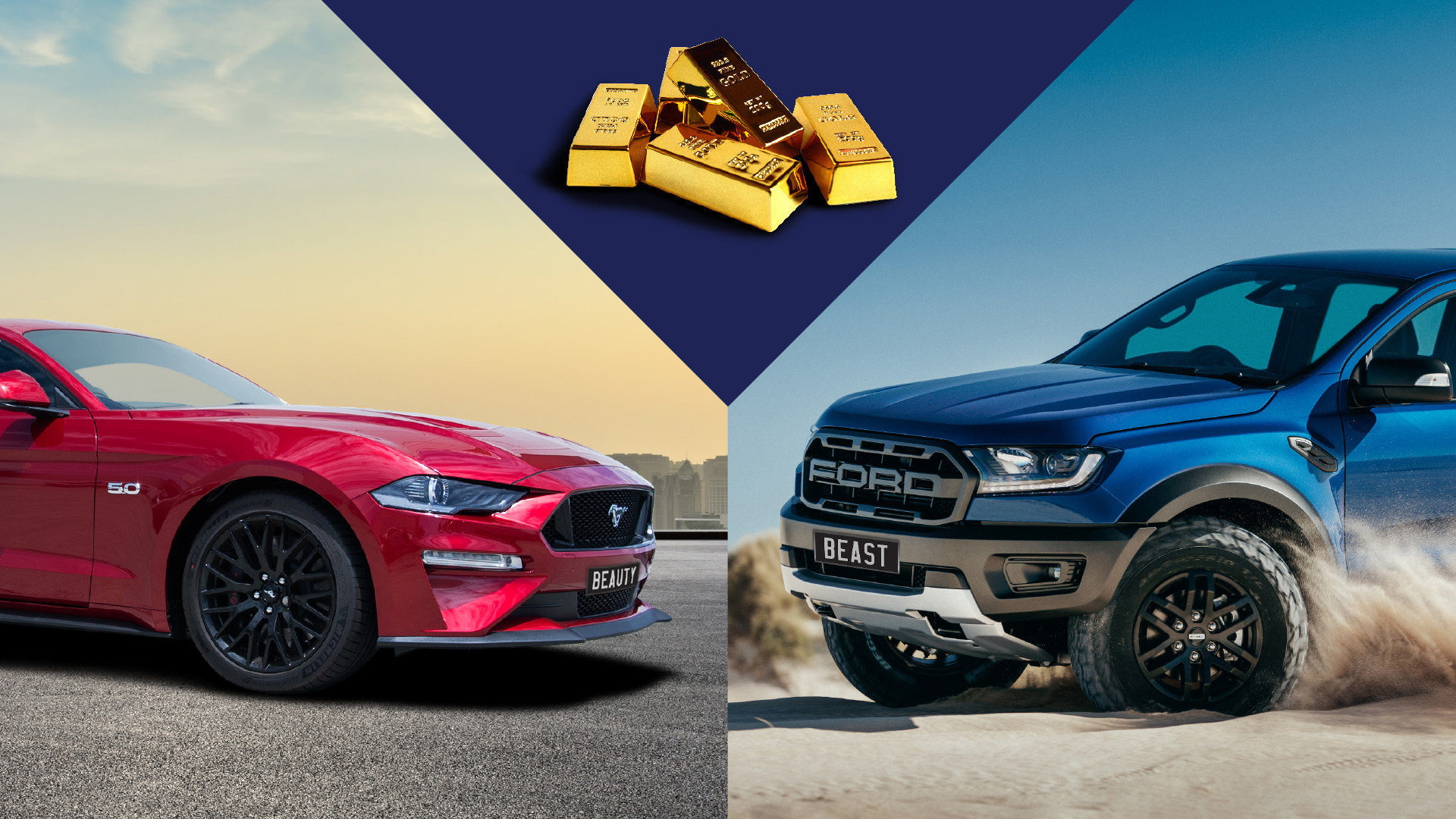 WIN both the Ford Mustang and Ford Ranger Raptor PLUS $40,000 in gold bullion