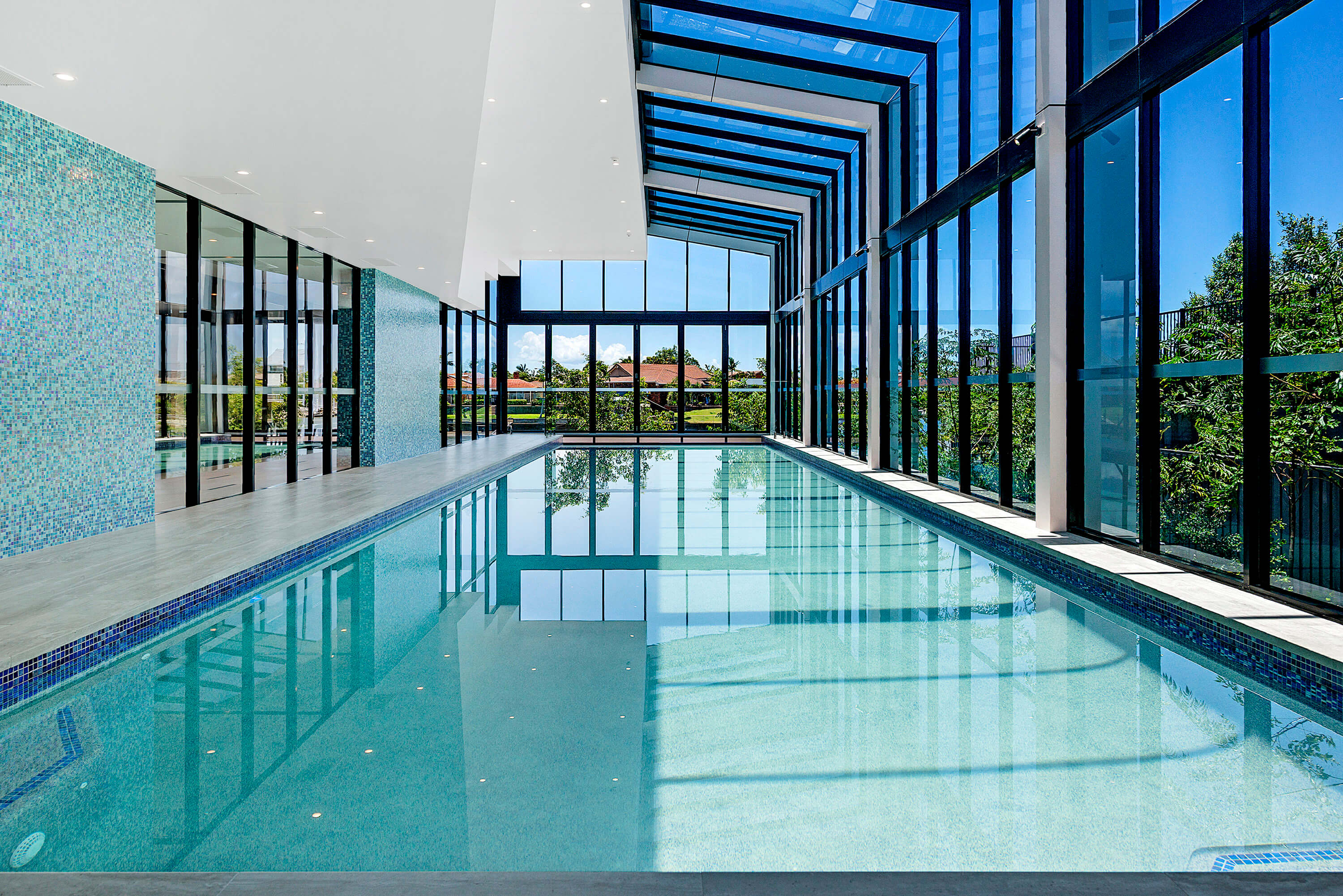 Resident access to gym, indoor and outdoor pool, sauna, pilates room, cinema room and lounge, additional outdoor venues such as parkland and BBQ areas.